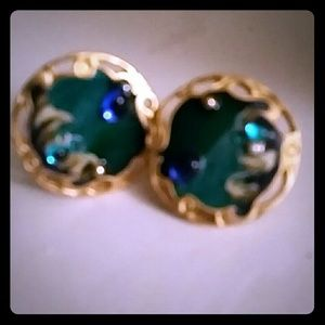 Hand  painted Clip On Retro Earrings